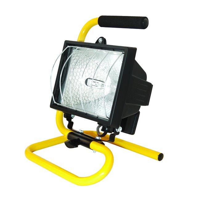 500w Portable Halogen Lamp Work Garden Site Weatherproof