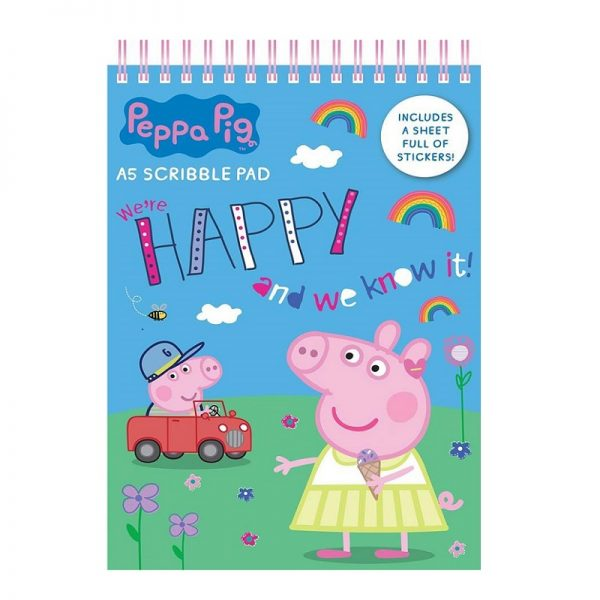 Childrens Kids Peppa Pig Giant Artist Pad Colouring