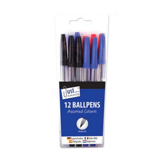 Long Lasting Pens Medium Biros Ball Point Pen For School Office Gift Black Blue