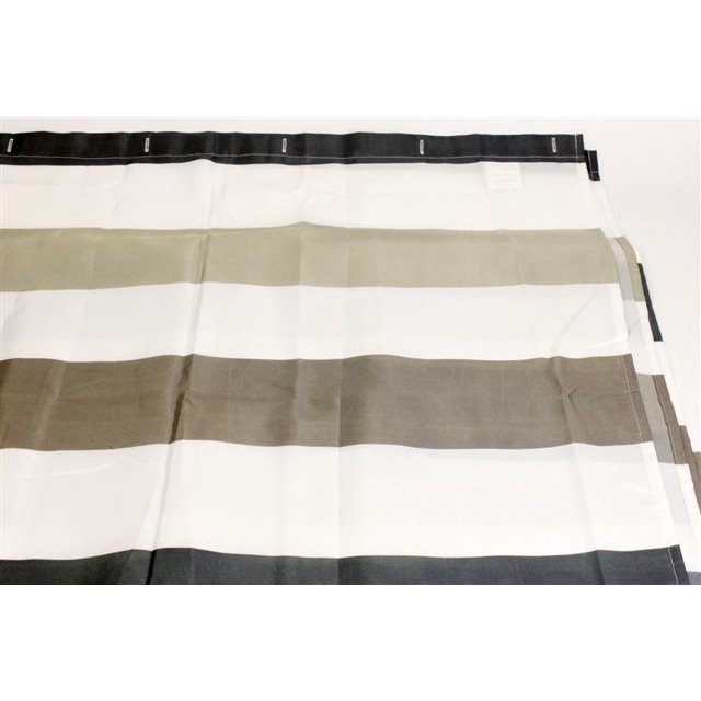 Wwe Bathroom Shower Curtain: Brown Stripe Luxury Fabric Shower Curtain Bathroom Bath