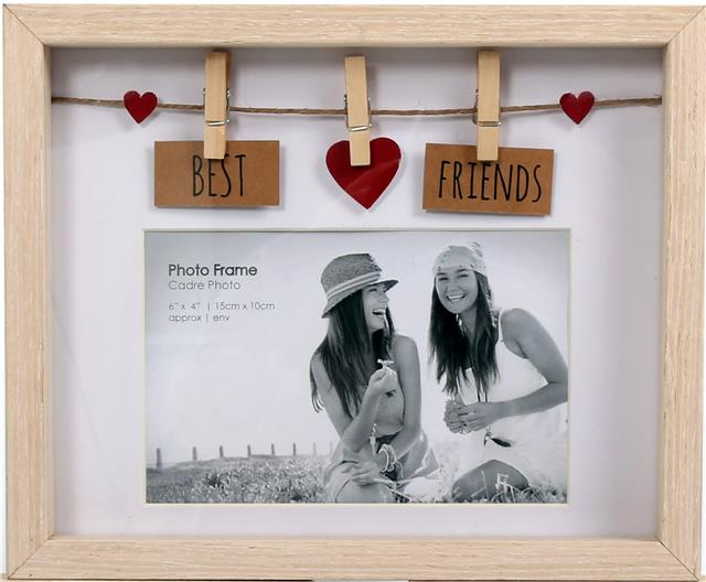 Natural Wood Wooden Box Picture Photo Frame 6 x 4 Decorative Washing ...