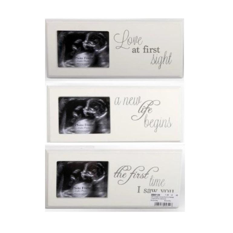 White Wooden Photo Frame Plaque Ultrasound Baby Scan Picture Newborn ...