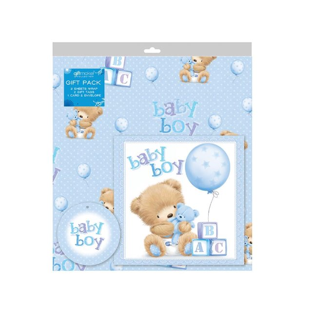 New Baby Boy Gift Tag : Sheets of baby boy gift wrap wrapping paper card