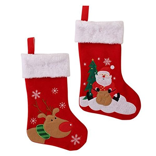 Childrens Christmas Stocking With Fur Cuff Rudolph Or