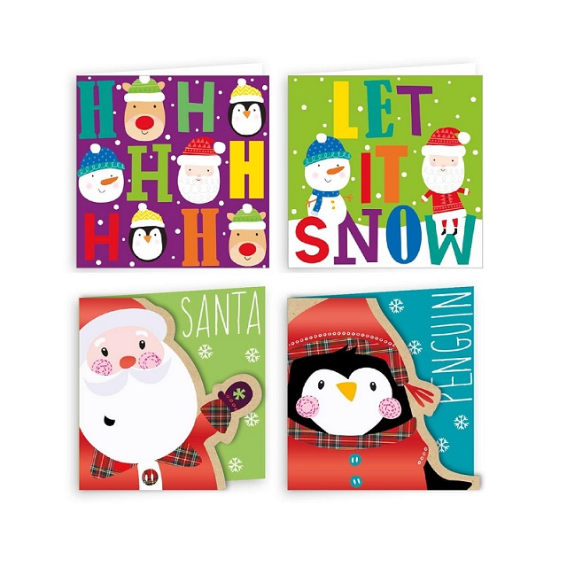 Children Christmas Cards.Details About 20 X Cute Small Children S Christmas Cards 2 Designs Characters Text