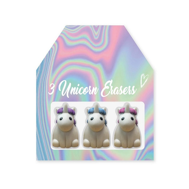 Unicorn Pencil Topper Pink White Fluffy Feathers Novelty Gift Party Bag Filler