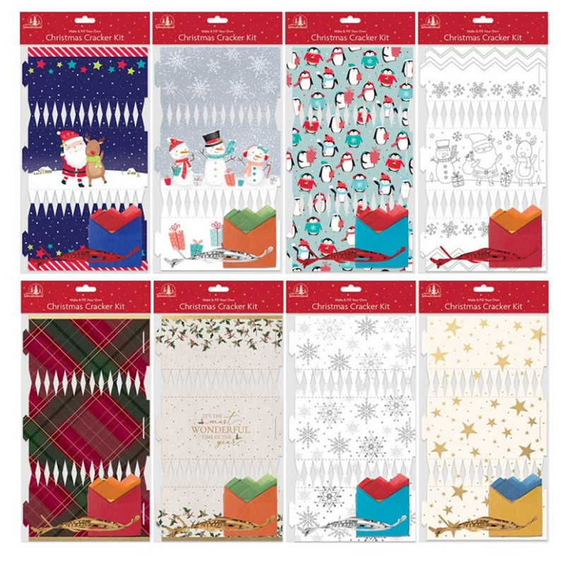 Christmas Crackers Diy.Details About Make Your Own Diy Christmas Crackers 8 Designs To Choose Fun Times Xmas