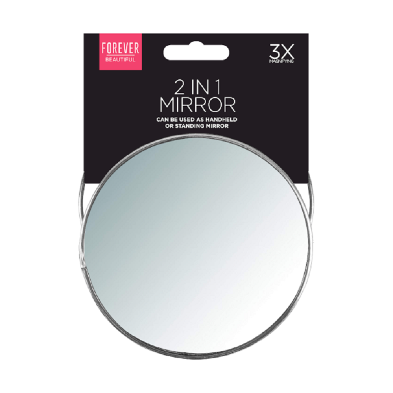 Plegable Espejo de baño con soporte 3 aumentos idea de Viaje Maquillaje Portátil